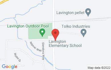 Map to Lavington Church in Coldstream, BC