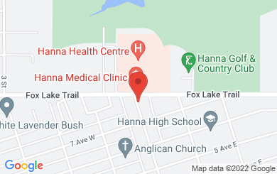 Map to First United Church Hanna in Hanna, AB