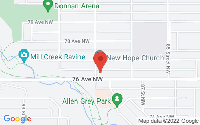 Map to New Hope Christian Assembly in Edmonton, AB