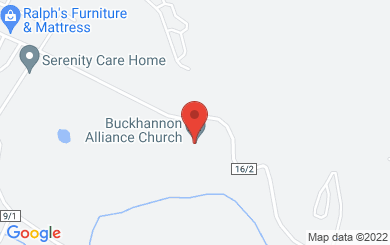 Map to Buckhannon Alliance Church in Buckhannon, WV