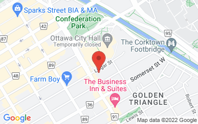 Map to Knox Presbyterian Church in Ottawa, ON