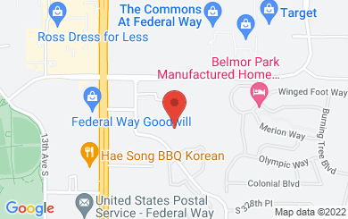 Map to Joy to the World Ministries in Federal Way, WA