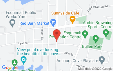Map to Esquimalt United Church in Victoria, BC