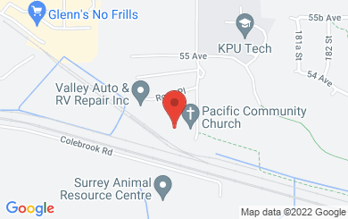 Map to Cloverdale Community Kitchen in Surrey, BC