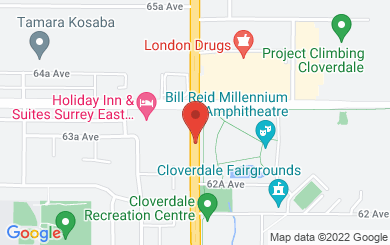 Map to Westwinds Community Church in Surrey, BC