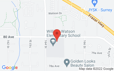 Map to Real Life Community Church in Surrey, BC