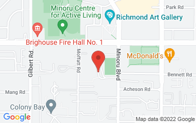 Map to Koinonia Evangelical Church in Richmond, BC