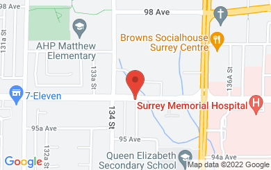 Map to Surrey Alliance Church in Surrey, BC