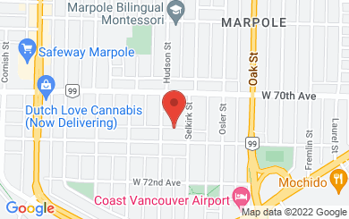Map to St. Augustine's Anglican Church in Vancouver, BC