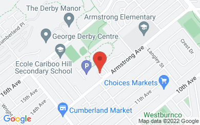 Map to Burnaby Alliance Church in Burnaby, BC