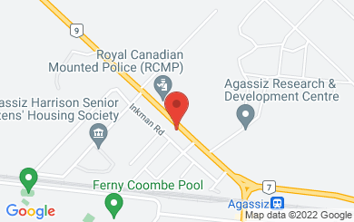 Map to All Saints Anglican Church, Agassiz in Agassiz, BC