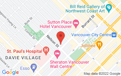 Map to First Baptist Church of Vancouver in Vancouver, BC