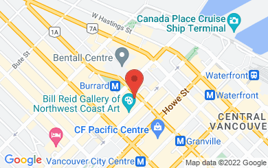 Map to RJ Financial Group Ltd in Vancouver, BC