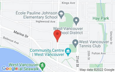 Map to St. Stephen's Anglican Church in West Vancouver, BC
