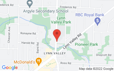 Map to Lynn Valley United Church in North Vancouver, BC