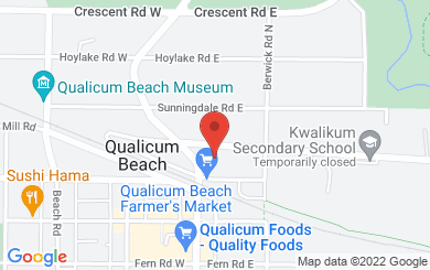 Map to St. Stephen's United Church in Qualicum Beach, BC