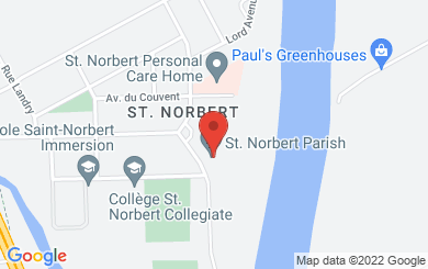 Map to St. Norbert Parish in Winnipeg, MB