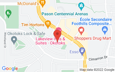 Map to Okotoks Evangelical Free Church in Okotoks, AB