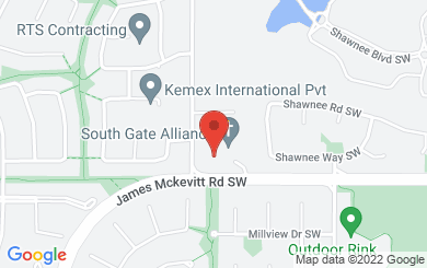 Map to South Gate Alliance Church in Calgary, AB