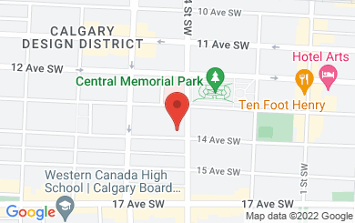 Map to Calgary International Learning Centre in Calgary, AB