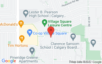 Map to St. George's Anglican Church in  2523 56 ST. NE, Calgary, AB