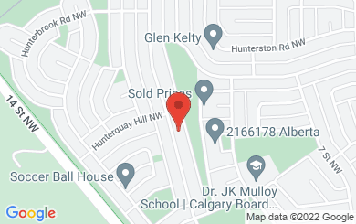 Map to Worldwide Acceptance Ministries in Calgary, AB