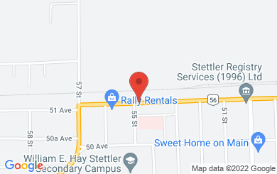 Map to Freedom Christian Fellowship in Stettler, AB