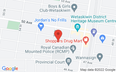 Map to Sacred Heart Church Wetaskiwin in Wetaskiwin, AB