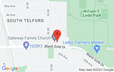 Map to Gateway Family Church in Leduc, AB