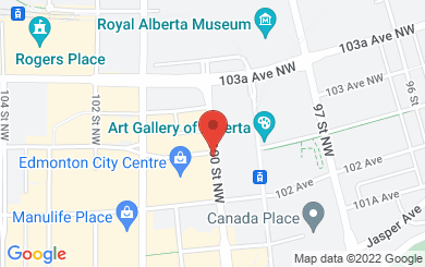 Map to Edmonton Football Officials Association in Edmonton, AB