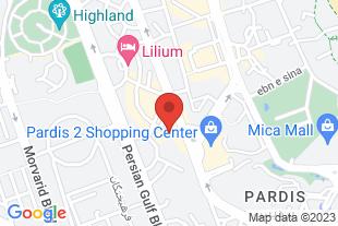 اجاره آپارتمان مبله و سوئیت در کیش - موقعیت در نقشه