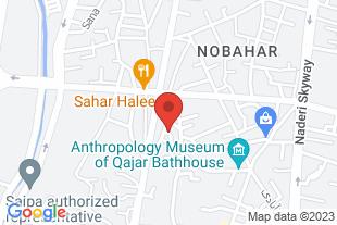 فروش یک باب مغازه در محمدیه قزوین - موقعیت در نقشه