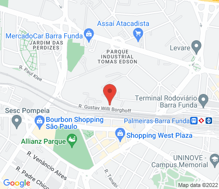 Rua Gustav Willi Borghoff, 480 - Barra Funda 01144-080 SP Brazil - Map view