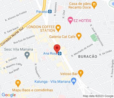 São Paulo Brazil - Map view