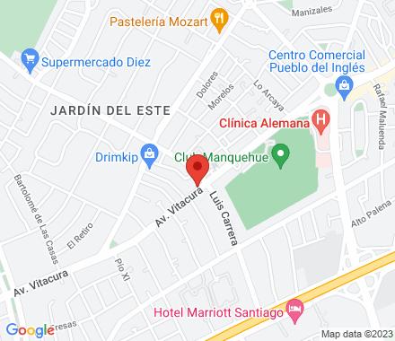Av. Vitacura 5480, Vitacura  Santiago Chile - Map view