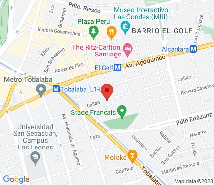 Callao 3037, Las Condes, Santiago (Metro El Golf)  ,  Santiago, cl - Map view