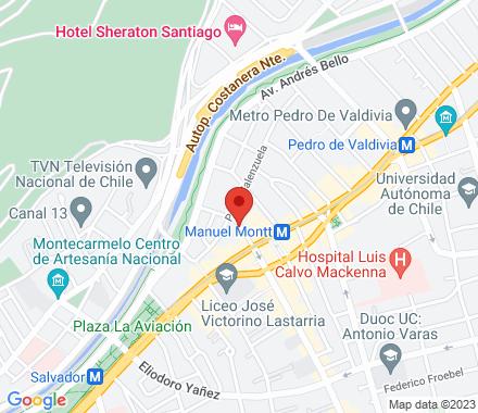Av Manuel Montt #085 Providencia  Santiago Chile - Map view
