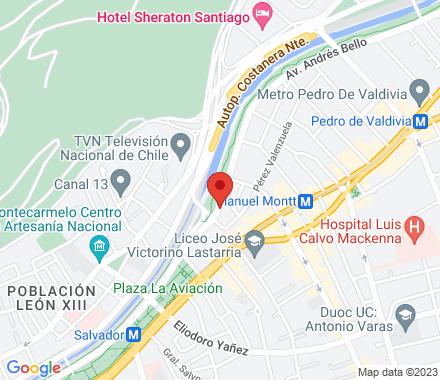 Avenida Andrés Bello 1135, oficina 21  Santiago Chile - Map view