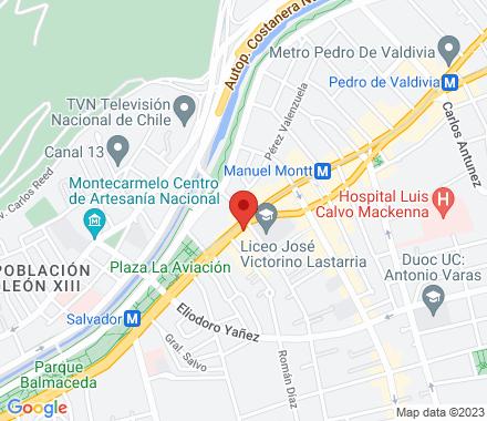 Av. Providencia 1077  Santiago Chile - Map view