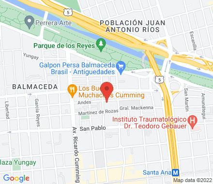Andes 2072, Santiago Centro  Santiago Chile - Map view