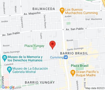 santo domingo 2410 7501196 Santiago Chile - Map view