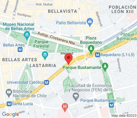 Alameda  Santiago Chile - Map view