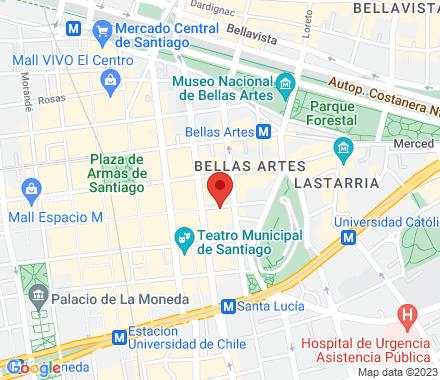 Pasaje Huérfanos 640, oficina B22  Santiago Chile - Map view