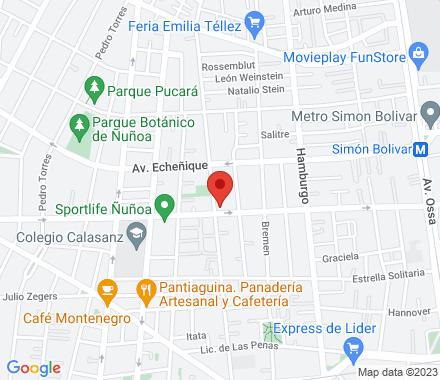 Av Simón Bolivar 4800, ñuñoa, santiago de chile 7790497 Santiago Chile - Map view