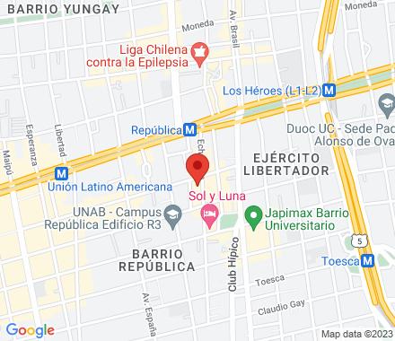 Santiago Chile - Map view