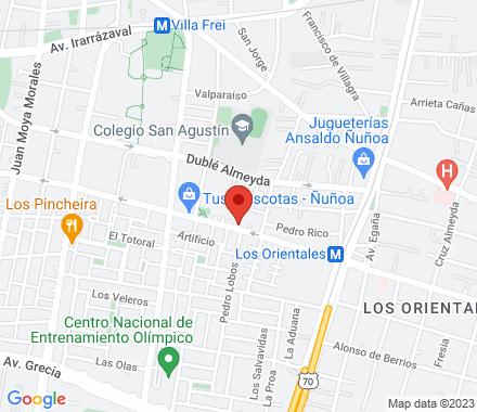 Alcalde Eduardo Castillo Velasco 5014  Ñuñoa Chile - Map view