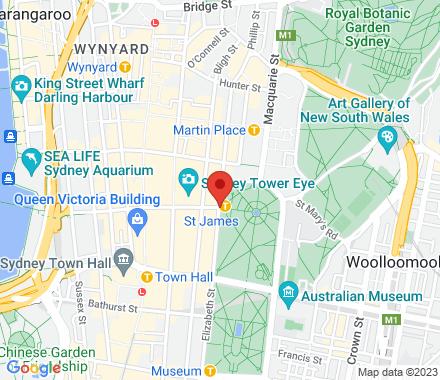 St James Station  ,  Sydney, au - Map view
