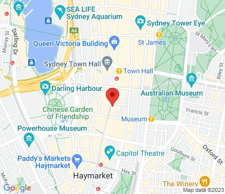 624 George Street 2000 NSW Australia - Map view