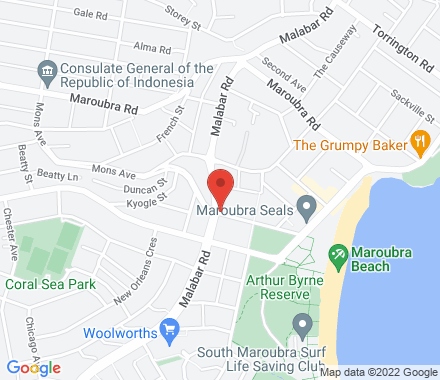 Maroubra sports Club, cnr mons ave/Malabar road 2035 Maroubra Australia - Map view