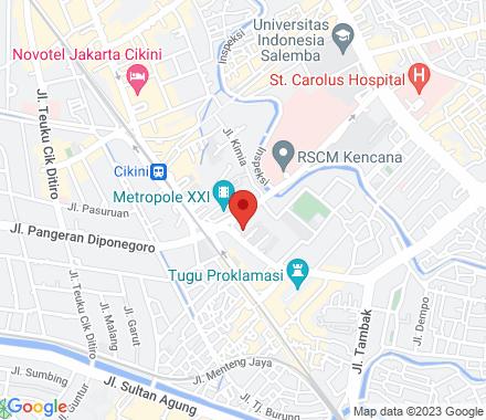 Jl. Proklamasi 27 10320 Jakarta Indonesia - Map view